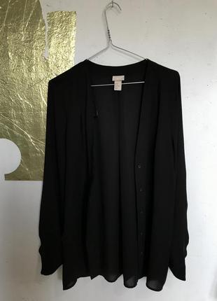 Блуза hm с треугольным вырезом