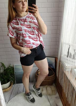 Шорты джинсовы с подворотами hm