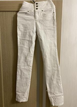 Белые джинсы на высокий рост