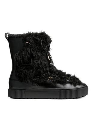 Новые зимние ботинки h&m сапоги р.35 супер цена 🔥 скидка 🔥 акция 🔥