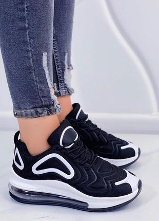 Кроссовки черные с узором