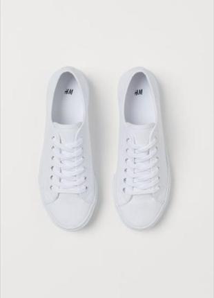 Женские белые кроссовки кроссы кеды h&m