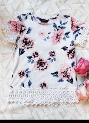Блуза с кружевом, футболка