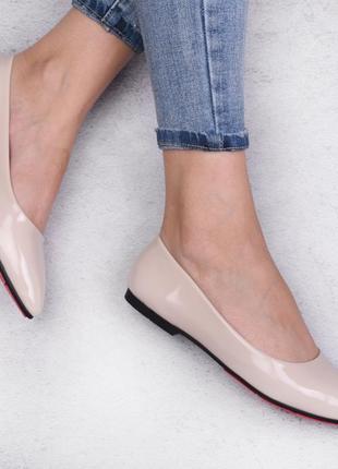 Лаковые балетки туфли лодочки эко лакові туфлі еко