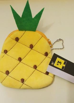 Новая стильная косметичка кошелек ананас