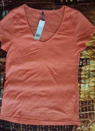 Носите натуральное!новая хлопковая футболка casual-e-vie-премиум бренд-англия пог44/56