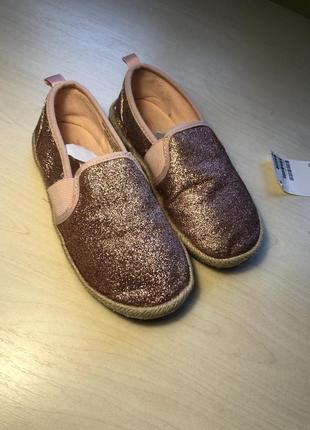 Эспадрильи макасины блестящие туфельки туфли hm