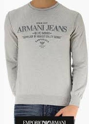 Стильный свитерок со свежих коллекций armani jeans ® blue indigo gray sweater