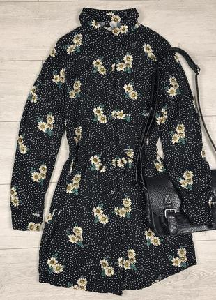 Милое платье в горох и ромашки h&m