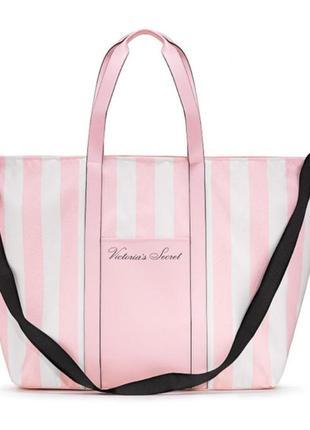 Пляжная городская сумка в класическую розовую  victoria's secret💖