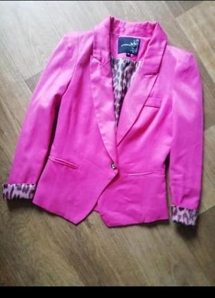 Пиджак цвет фуксия, жакет, ветровка, блейзер, накидка, кардиган