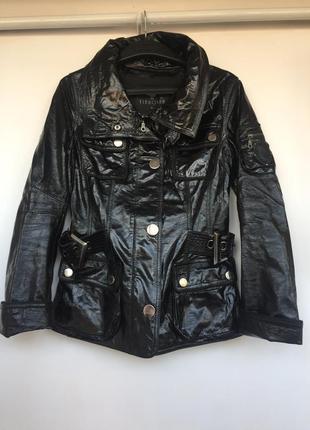 Куртка/пиджак из натуральной лакированной кожи. р.46