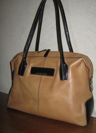 Jasper conran сумка саквояж кожаная женская 38х28 без дефектов натуральная кожа