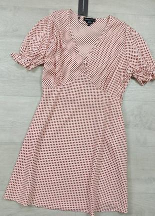 Платье в горох винтаж
