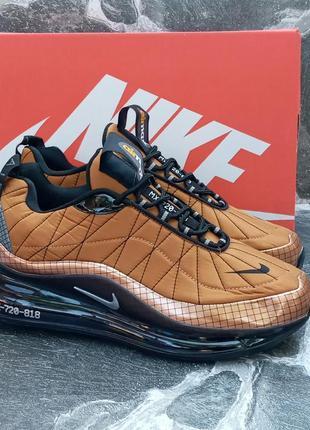 Мужские кроссовки nike air max 720 осенние,коричневые,