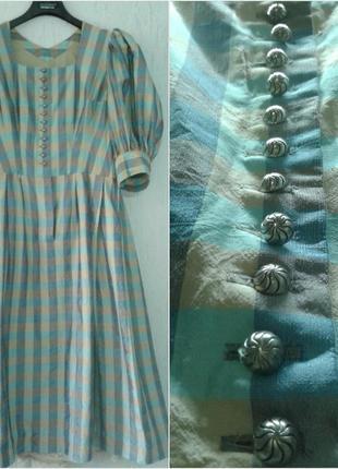 Винтажное шелковое платье 100% шелк чесуча германия