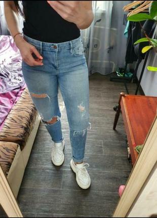 Светлые джинсы размер м