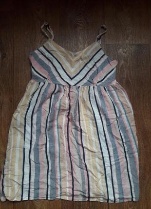 Сарафан платье мини в полоску