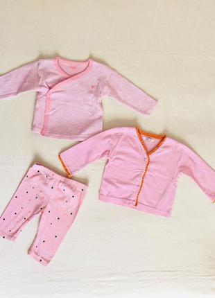 Набор,костюм,комплект,лосины,штаны,кофточка,кофта,реглан.размер 0-6 мес.