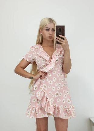 Красивое платье с воланами
