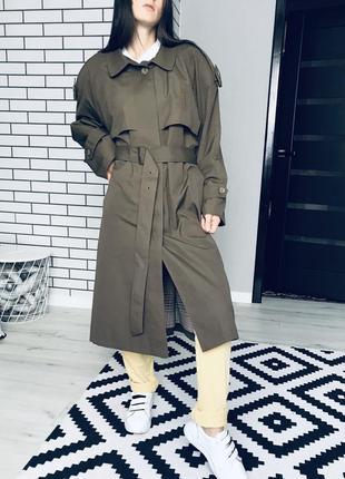 Актуальное пальто тренч базовое пальто плащ осень кардиган