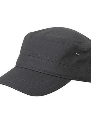 Военная кепка милитари, графит, немка, коттон хб, унисекс, размер один на велкро