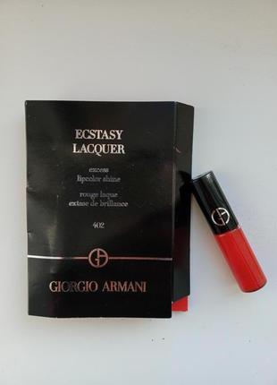 Жидкая матовая помада для губ giorgio armani тон 402