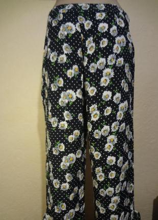 Яркие повседневные легкие брюки zara размер м