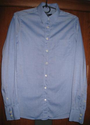 Однотонная рубашка с накладным карманом gant