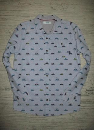 Плотная котоновая рубашечка фирмы бэкер на 12-13 лет