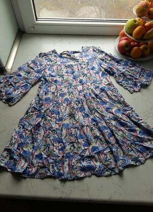Мягкое теплое вискозное платье marks&spenser на 9-10 лет