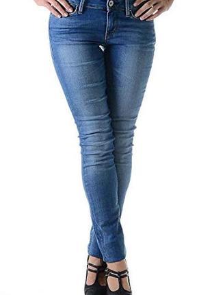 Синие голубые плотные джинсы скинни прямые высокий рост узкачи guess женские стрейч