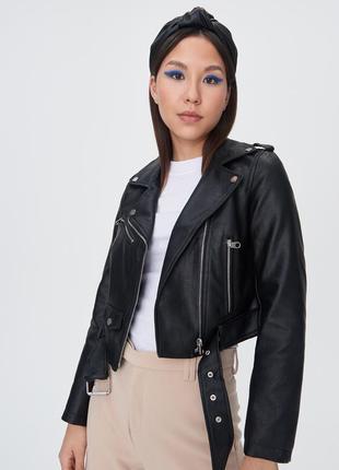 Куртка косуха байкерская с ремнем sinsay bershka