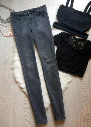 Серые джинсы скинни стрейч джеггинсы на высокий рост узкачи американки uniqlo