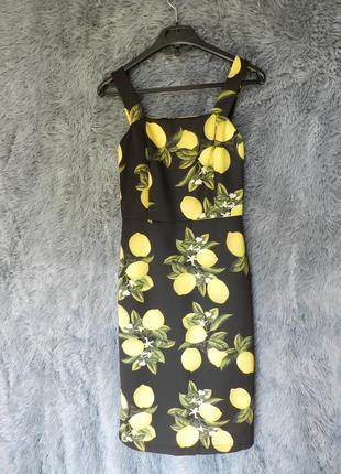 ✅ платье по фигуре с яркими лимонами