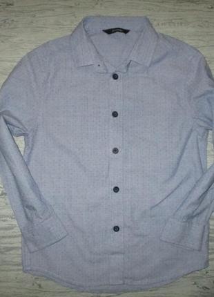 Хорошенкьая котоновая голубенькая рубашка фирмы джорж на 5-6 лет