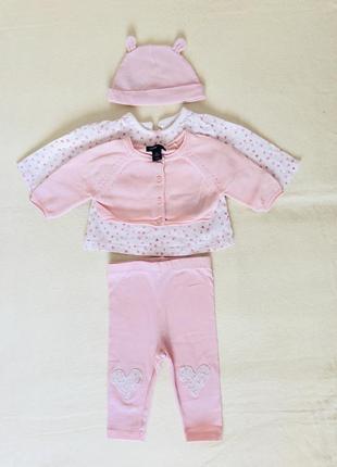 Набор,комплект,костюм,нарядный для девочки.шапочка,штанишки,кофточка,лосины.