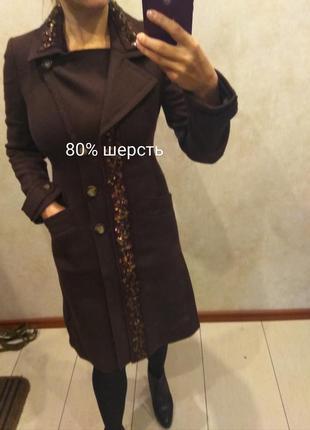 Шерстяное классическое пальто от mexx