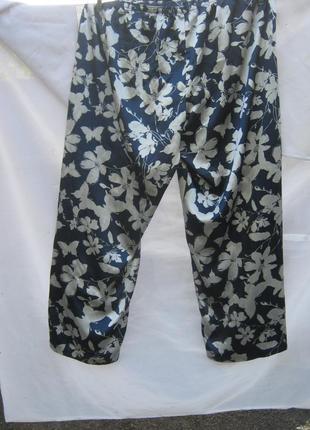 Распродажа лета .стильные легкие широкие брюки бабочки цветы батал per una marks spenser
