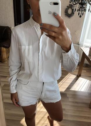 Базовая хлопковая рубашка от topshop