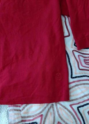 Красивейшая актуальная трикотажная бордовая блузка, 4xl .3 фото