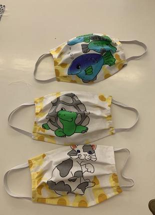 Захисні дитячі та дорослі маски пов'язки багаторазові