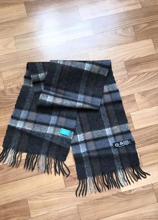 Шерстяной шарф 100% шерсть