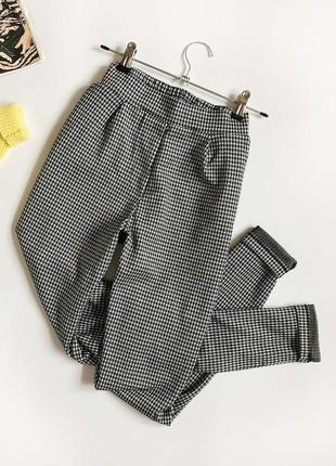 Обалденные брюки в гусиную лапку с высокой посадкой jacqueline de youg (чинос, джоггеры)