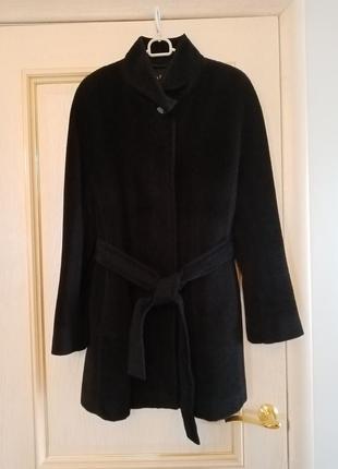 Итальянское шерстяное утепленное пальто альпака baby  alpaca большой размер