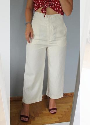 Лляні брюки-кюлоти m&s