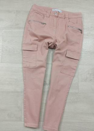 Пудровые джинсы джоггеры