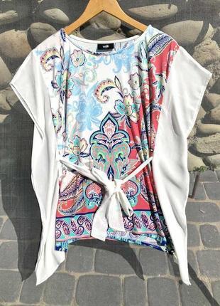 Женственная яркая блузочка