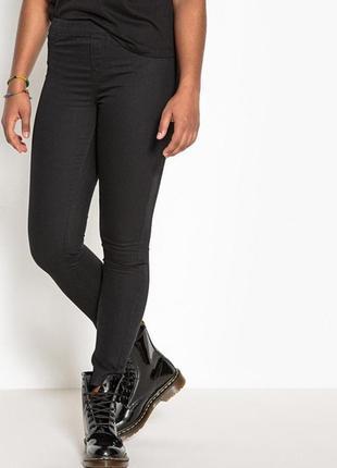 Черные джинсы скинни джеггинсы узкачи на резинке стрейч батал большой размер