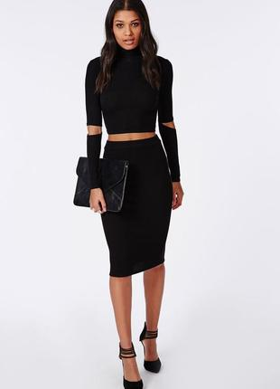 Турецкая юбка карандаш черная